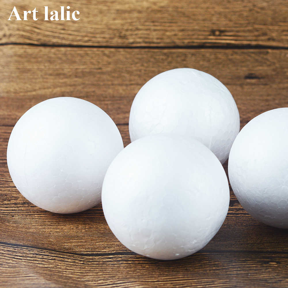 10Pcs DIY Party Wedding Ball Spheres Decoration Crafts 70MM Modelling Polystyrene Styrofoam Foam Ball Decoration Supplies