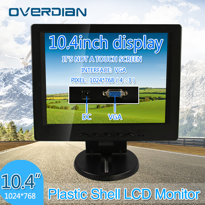 10.4 inch/10.4 VGA Connector Monitor 1024*768 Song Machine Cash Register Square Screen Lcd Monitor/Display Non-touch Screen sast 10 1 inch display nintaus machine singing old machine 50p lcd screen hw101f 0b 0c 50