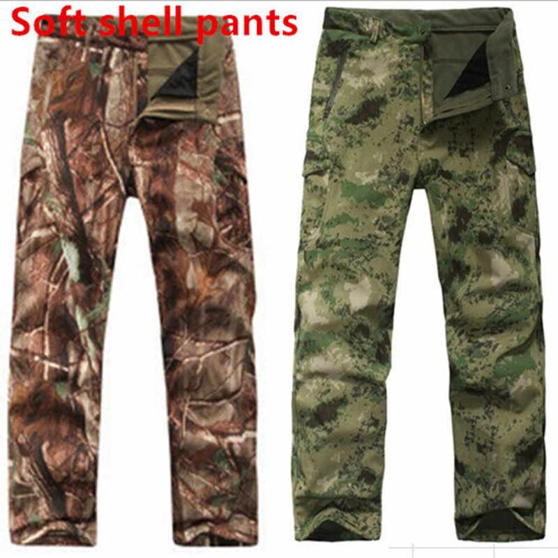TAD Haai Huid Waterdicht Winddicht Outdoor Wandelen Klimmen CS Camouflage Jacht Broek Mannen Fleece Broek Militaire Leger Pant