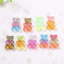 20*30mm 10pcs gummy bear flatback Resin Cabochons Scrapbook Craft Embellishments  Headwear accessories