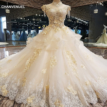 CHANVENUEL LS00124 wedding dress for ball gown cap sleeves