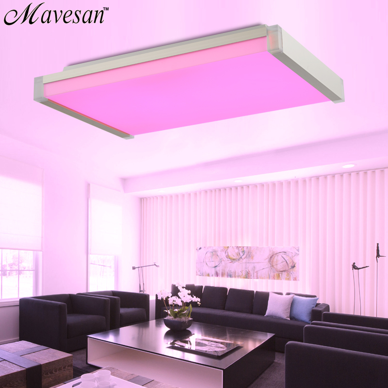 Hot Selling Remote Ceiling Light fixture with RGB Smart LED Lamp ...
