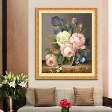5D Diamond Embroidery Diamond Mosaic Flower Picture 3D DIY Diamond Painting Needlework Canvas Home Decoration Canvas