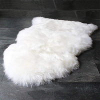 Black white gray brown area rug sheepskin wool rug for living room luxury gift for new house warming home decor rugs sit mats