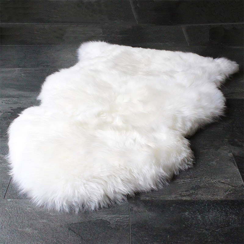 White Fur Rug For Bedroom Bed Cover