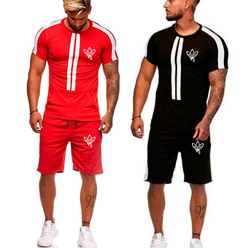 Brand Men Sport Running Suits Basketball Soccer Training T Shirts Pants Tracksuits Jersey Summer Fitness Sportswear