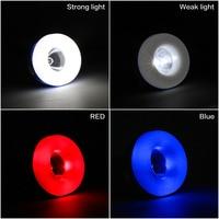 Iminovo 9 W bombilla led rgb cambio de color dimmable multicolor Luz de alta potencia 5 modo linterna colgante al aire libre tienda de campaña bul