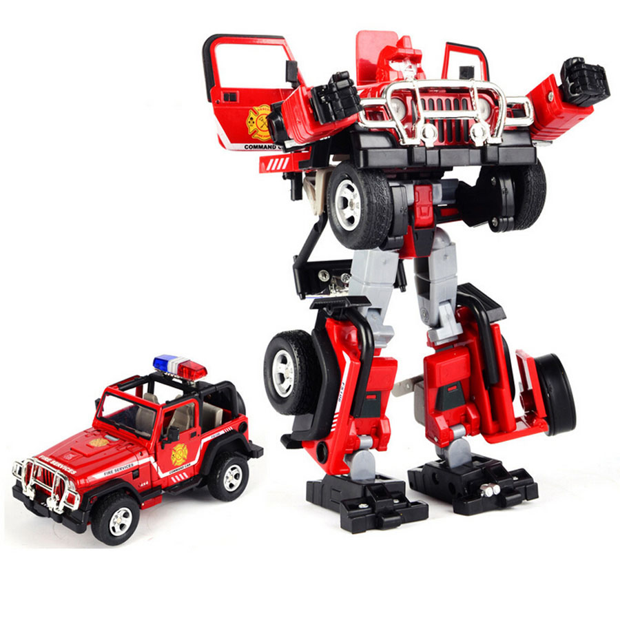 Cool Robot Toys : High simulation boutique model toy car alloy deformation