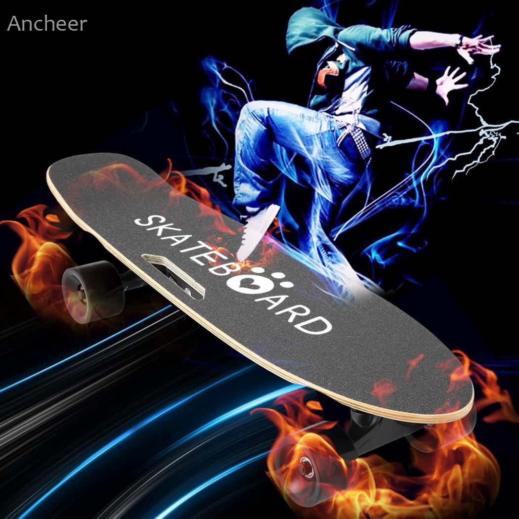 Ancheer Electric Skateboard Penny Board with Bluetooth Speaker Front Light Remote Contro ...