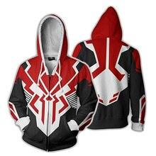 Marvel Jackets Men 3D Print Streetwear Captain America Cosplay Hoodies Zipper Sweatshirts Spiderman Coats Super Hero Jacket Mens