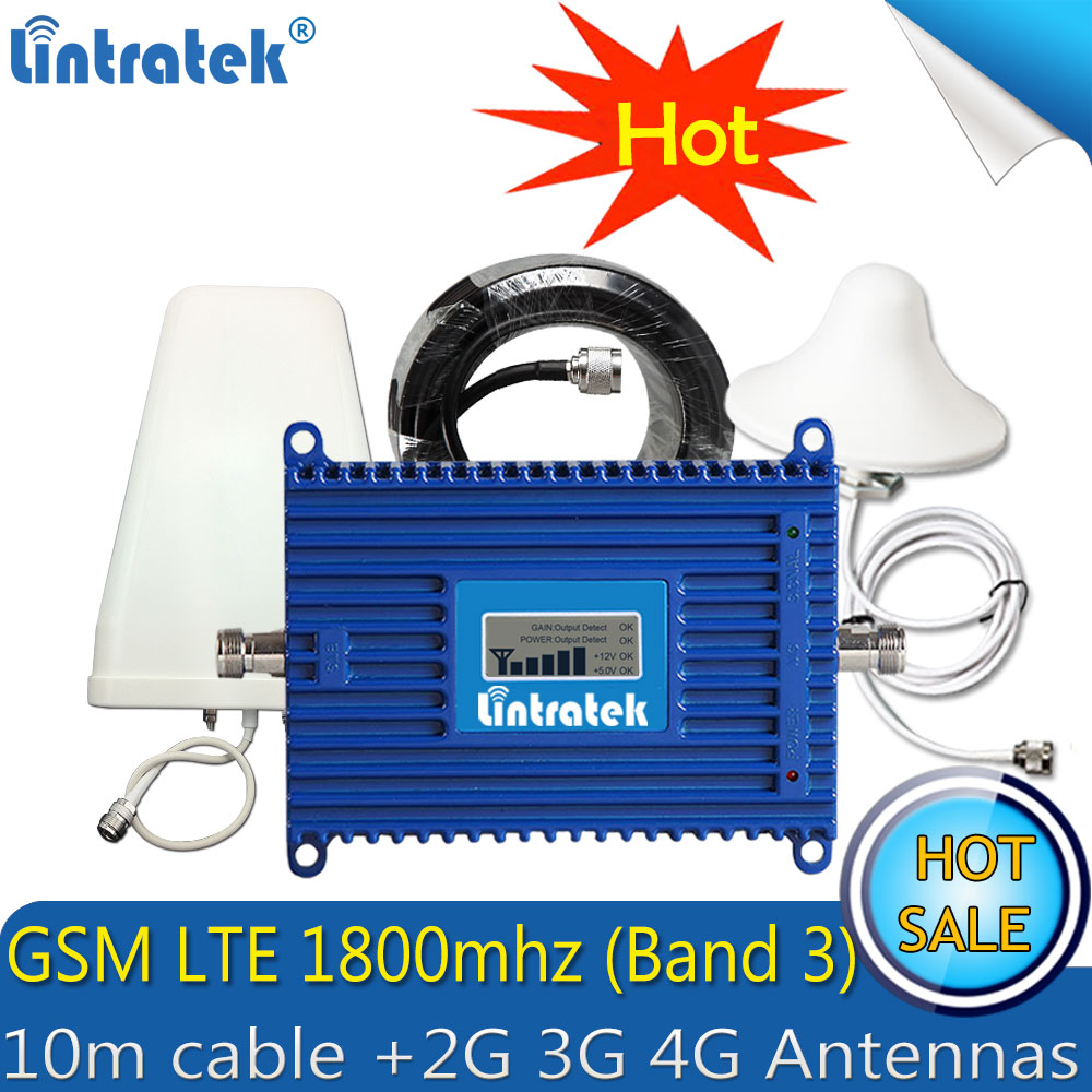 Lintratek GSM LTE 1800 2g 4g Cell Phone Signal Repeater 70dB Gain DCS 1800MHz 4g Amplifier GSM Signal Booster with 4g AntennaLintratek GSM LTE 1800 2g 4g Cell Phone Signal Repeater 70dB Gain DCS 1800MHz 4g Amplifier GSM Signal Booster with 4g Antenna
