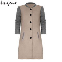 Spring Coat For Women 2018 High Quality Long Coats For Female Mixed Color Thick Material Trench
