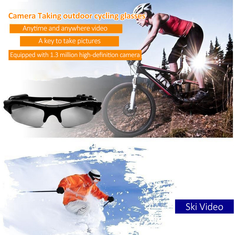 47fa6f6234 Smart Bluetooth 4.1 Wireless Cycling Glasses Men and Women Cycling  Sunglasses Eyewear Handsfree Support Calls Receive MP3 Camera