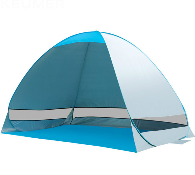 2016 New Portable Outdoor beach tent sun protection full automatic Layer double 2 person Good ventilation Rainproof UV folding