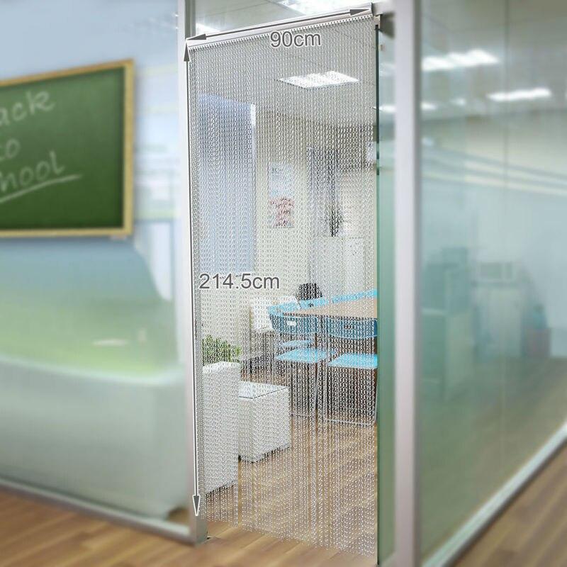 Aluminium porte fenêtre rideau en métal écrans diviseurs de pièce suspendus chaînes stores mouche insecte antiparasitaire 22-001