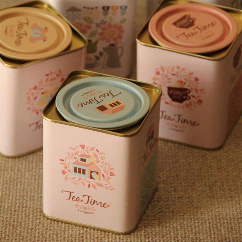 3ks / šarže 7,5x7,5x9,5cm Evropský styl Žehlička Jar Boxy čajová krabička na utěsnění plechovky na čaj Čaj Káva drobné občerstvení Cukrovinky