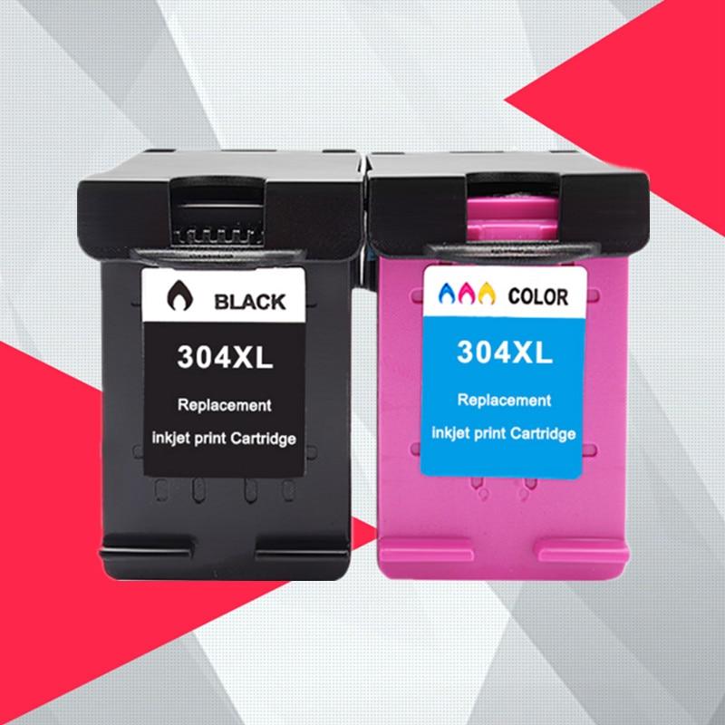 Compatible con 2PK para HP 304 304xl cartucho de tinta para HP304 Deskjet serie 3720, 3721, 3723, 3724, 3730, 3732, 3752, 3755, 3758 impresora