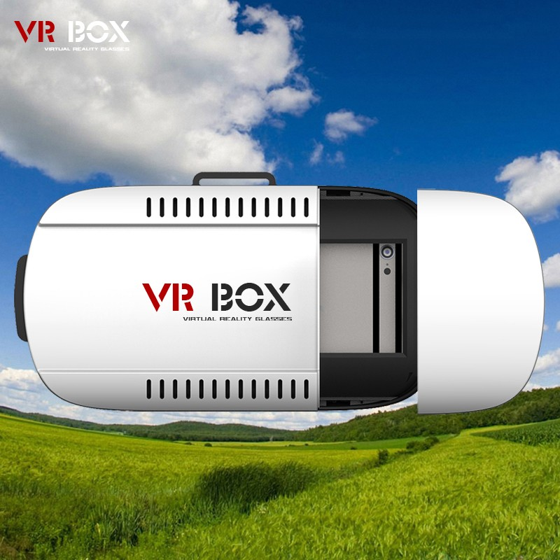 50pcs/lot Factory Supply 3D Head Mount VR Box 1 nd Generation Virtual Reality vr glasses & Bluetooth Remote Control 3