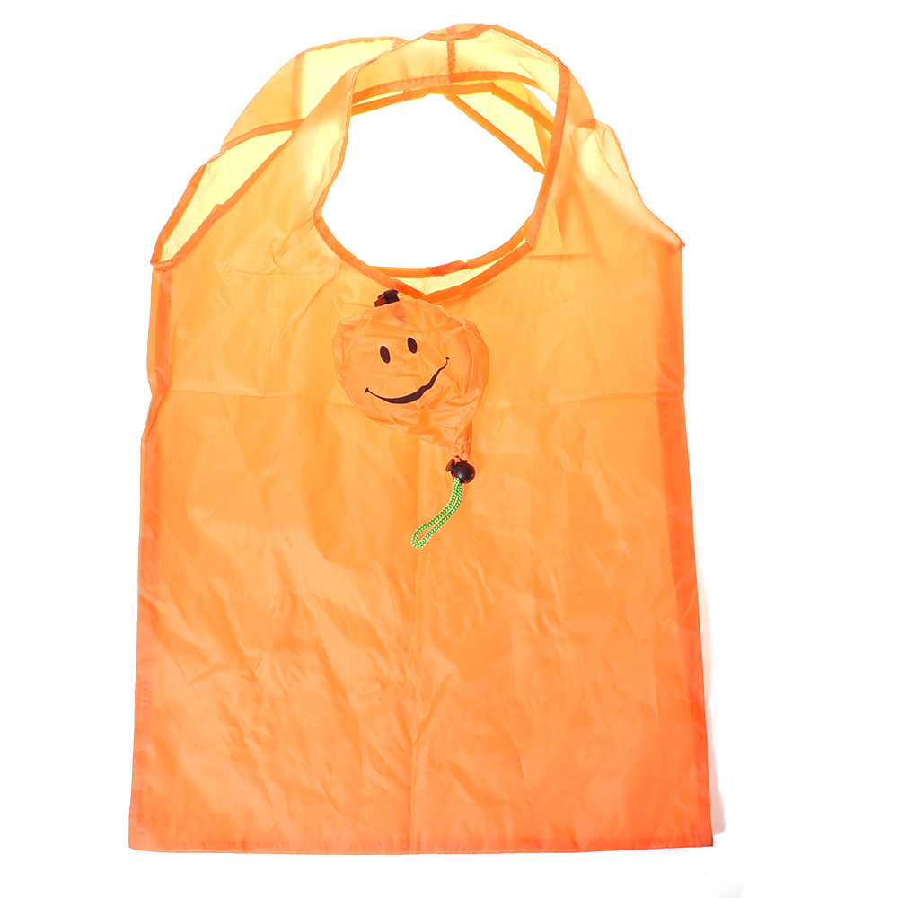 1pc Outdoor Orange Smiling Face Nylon Waterproof Folding Shopping Bag Eco Foldable Reusable Handbag Grocery Storage Bag1pc Outdoor Orange Smiling Face Nylon Waterproof Folding Shopping Bag Eco Foldable Reusable Handbag Grocery Storage Bag