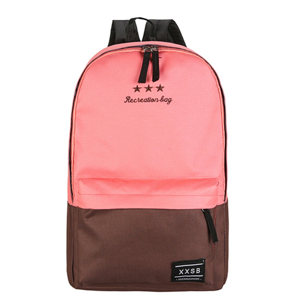 New Arriving Women Polyester Fiber Backpack Preppy Style Teenagers School Bags Girls Laptop Trave Patchwork Backpack arriving in avignon