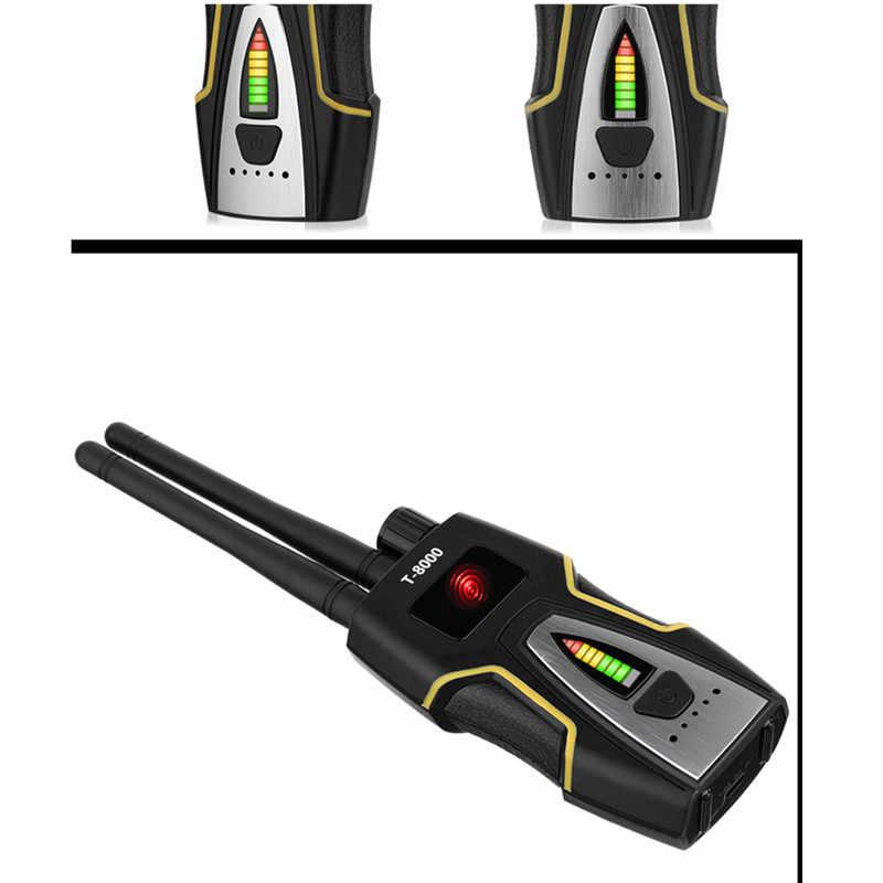 Detector de insectos RF Detector de señal Anti-espía cámara oculta GSM dispositivo de escucha GPS Radar Radio escáner inalámbrico buscador de señal (oro)