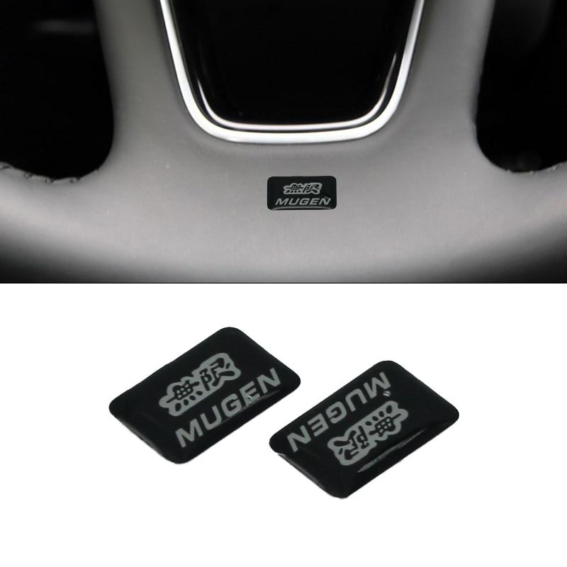 2pcs 18mmx10mm 3D Mugen Logo Car Emblem sticker Styling For Mugen Honda Civic Accord CRV Accord S2000 CR-V Car Sticker ветровик rein для honda cr v iii 2006 2012 кроссовер на накладной скотч 3м 4 шт