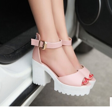 Aliexpress.com : Buy New Women&39s fashion thick heel Chunky open