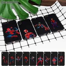 M502 Handsome Spiderman Black Soft TPU Silicone Case Cover For Apple iPhone 11 Pro XR XS Max X 8 7 6 6S Plus 5 5S 5G SE