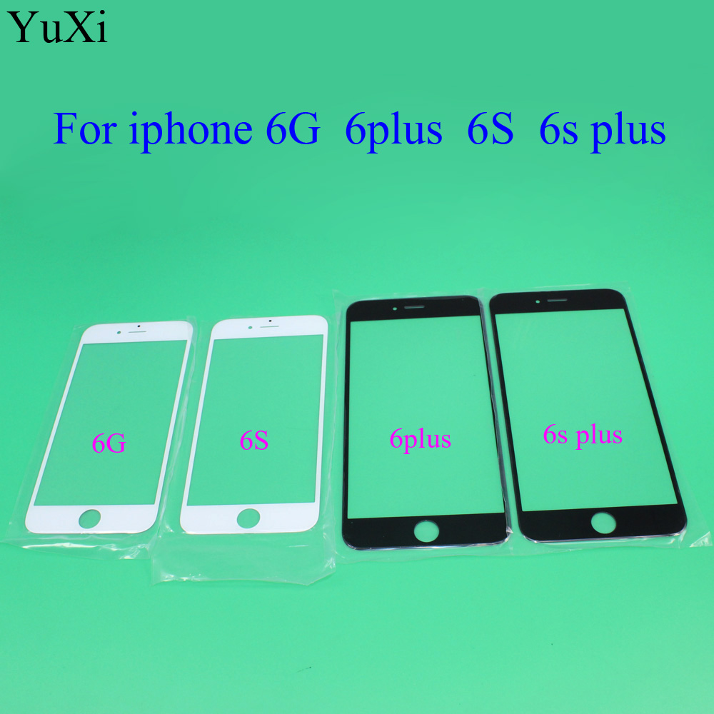 "YuXi high quality Replacement LCD Front Touch panel Glass Outer Lens for iphone 6 6g 6s 4.7inch / 6 Plus 5.5"" Black White colour"