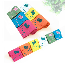 Spring cute KT cat pattern girls in candy colored velvet pantyhose baby socks Children's pantyhose 12 colors dance
