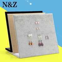 Fashion L Type Jewelry Display Stand Earrings Holder Earring Display Stand 3 Color Hot Sale Gift