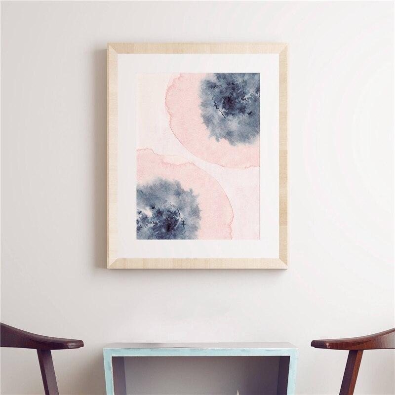 Blush Pink Blue Wall Art