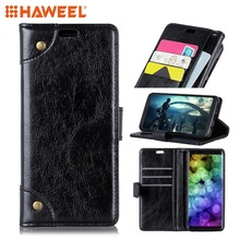 HAWEEL For Samsung Galaxy S10 & Lite Copper Buckle Texture Horizontal Flip Leather Case with Holder Card Slots Wallet