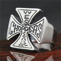 Top Sales Mens 316L Stainless Steel Biker Ring Mini Choppers Motor Cycling Ring