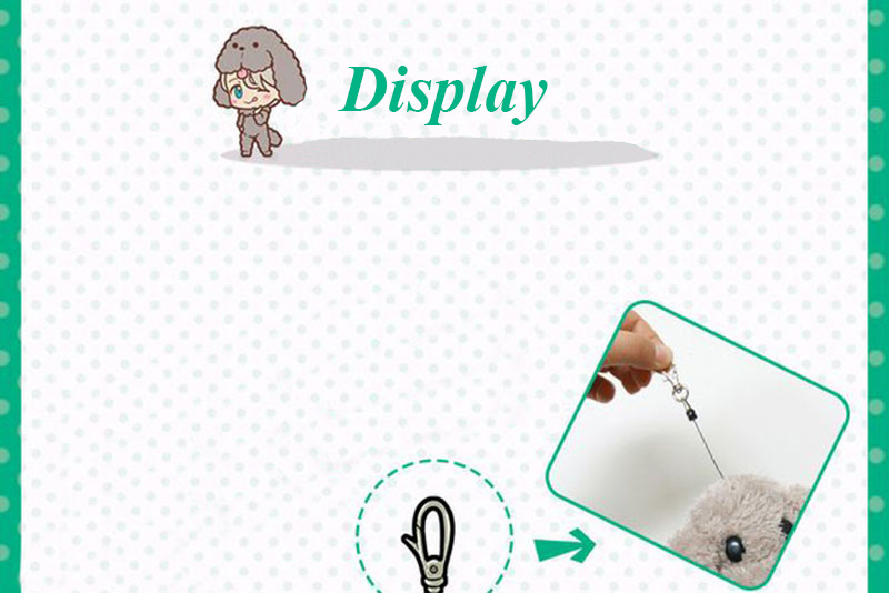 Cute Yuri on ice Victor Puppy Poodle Dog Plush Toy Makkachin Pet Dog Paper Box Keychain Pendant Cosplay Decoration Toy Kids Gift (5)