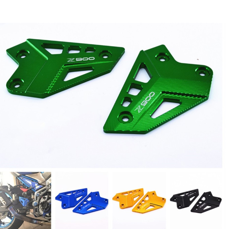 For <font><b>KAWASAKI</b></font> Z900 <font><b>Z</b></font> <font><b>900</b></font> <font><b>2017</b></font> 2018 Motorcycle Accessories FootPeg Footrest Rear set Heel Plates Guard Protector image