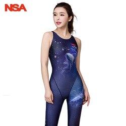 NSA гоночный Купальник для женщин, сдельный Купальник для девочек, купальный костюм для женщин, детский купальник для соревнований, женские к... 1