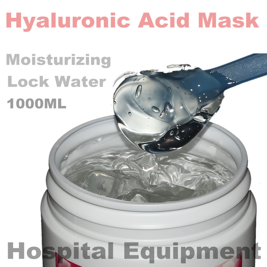 1KG Hyaluronic Acid Moisturizing Mask 1000g Whitening Lock Water Repair Disposable Sleeping Cosmetics Beauty Salon Products OEM 1kg beauty salon equipment products rose water cream moisture whitening moisturizing globularness cosmetics oem