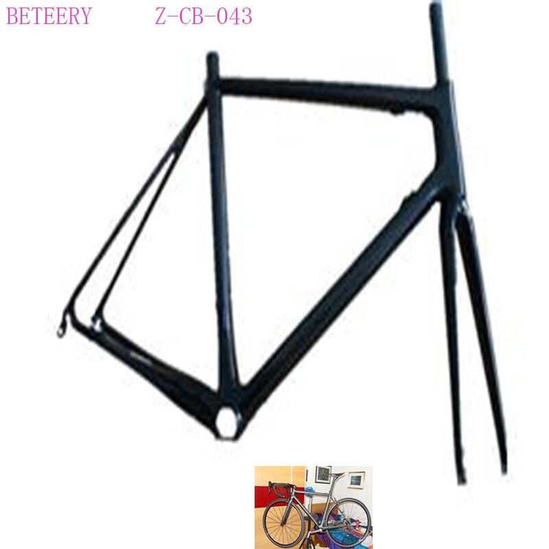Beteery Store Carbon Road  Bike 700*23c Carbon Road  Frame Z-CB-043 Super Light Carbon Frame Set Includ Carbon Fork    For Sale