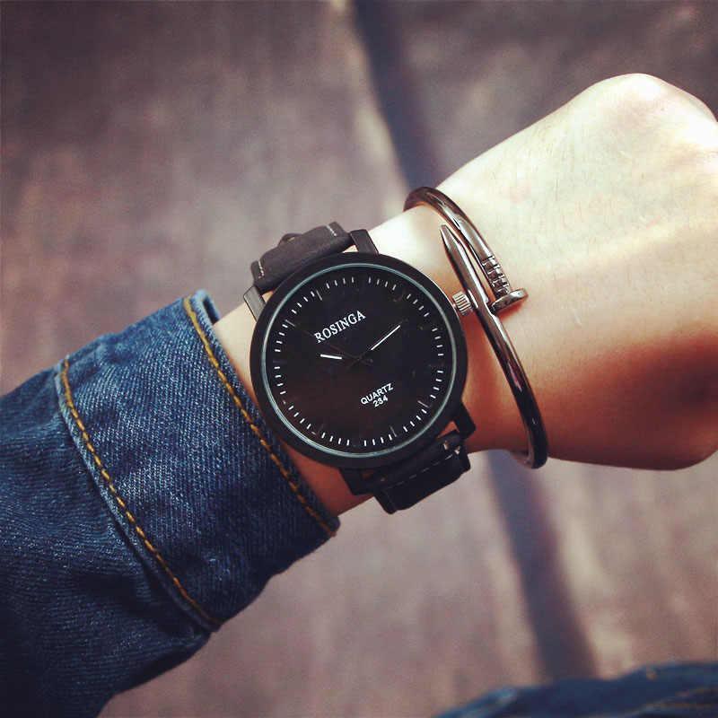 Nuevo reloj de moda para mujer, caja redonda de acero, reloj de pulsera de cuarzo de cuero para hombres y mujeres, gran oferta reloj femenino reloj mujer 30X