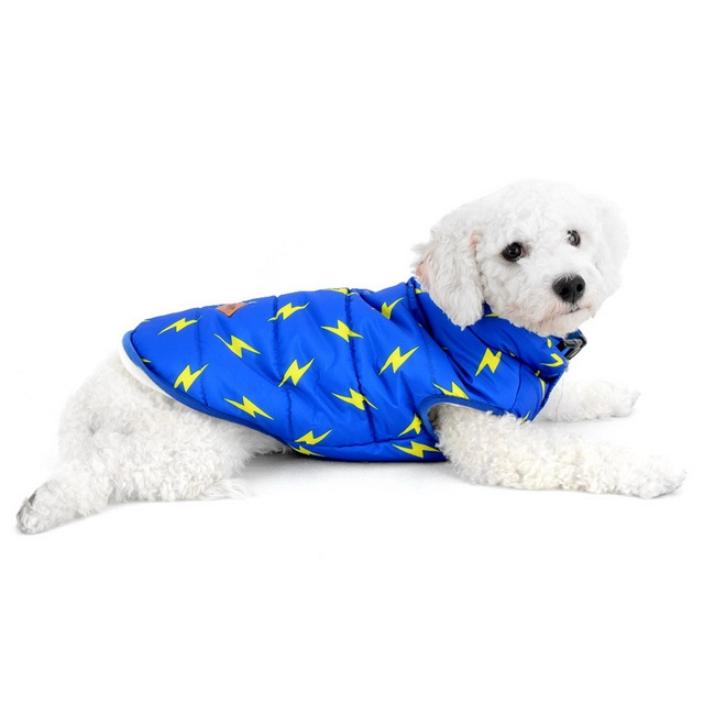 Rayo imprimir acolchado frío chaleco para perros pequeños mascotas ...