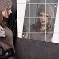 El último diseño 0.1 MM square espejo película adhesiva decorativa puede ser fijada a la pared de nuevo fashion.7z-za128