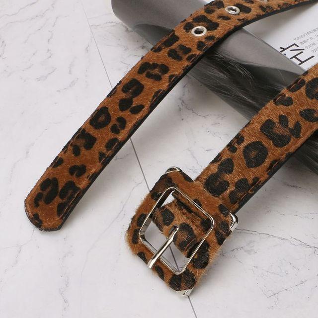 Waist Belt Leopard Square Buckle Women Universal Casual Jeans Pants Clothing Decoration Fashion Adjustable 2.8/3.3cm Wide Belts