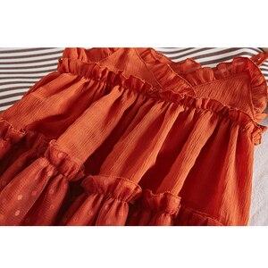 Image 5 - Miłość DD & MM dziewczyny sukienki 2019 letnie nowe ubrania dla dzieci dziewczyny w stylu zagranicznym bez rękawów siatki procy księżniczka sukienka