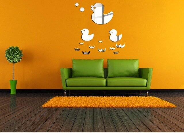 Meya mooie ducks diy spiegel sticker d nieuwe ontwerp acryl muur