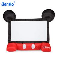 MS02 15ft 4 5m Airblown Inflatable Mickey Movie Screen Projector Cute Shape Repair Kits CE UL
