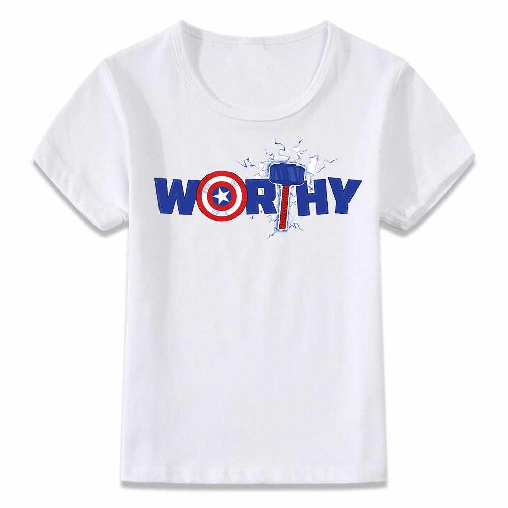 Baju Anak Kaos Captain America Layak Endgame T-shirt untuk Anak Laki-laki dan Perempuan Balita Kemeja TEE