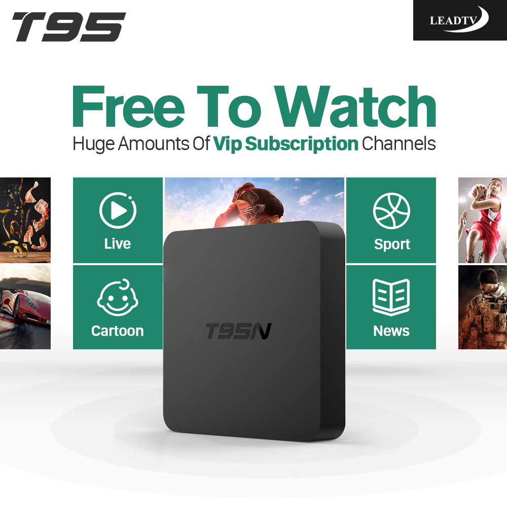 Arabic IPTV TV Box T95N 2GB RAM Faster French Maroc Spain Pay Tv Channels Film VOD Android Tv Box