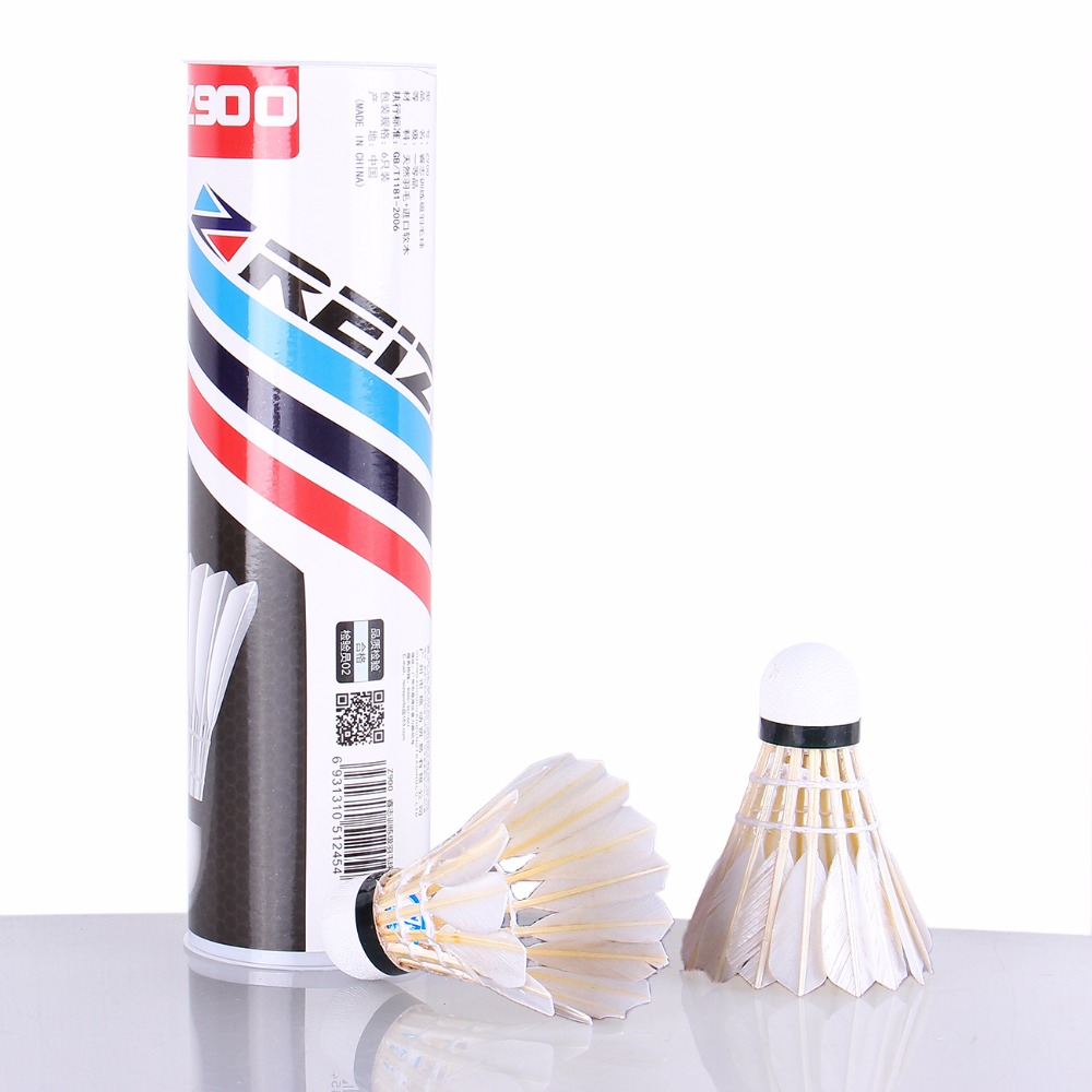 6PCS/Tube Shuttlecocks Badminton White Feather Shuttlecocks Professional Competition and Game Badminton Accessories Z900
