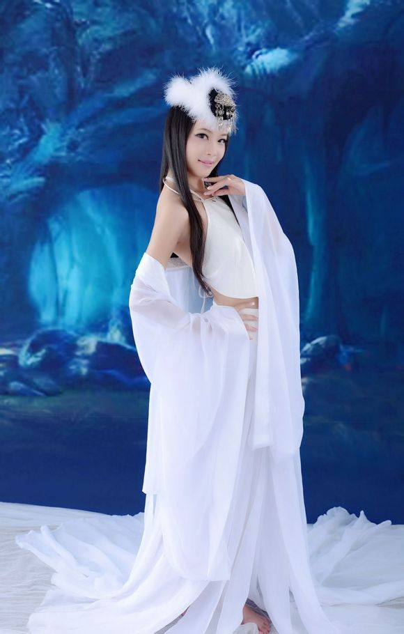 2019 Women Cosplay Fairy Costume Hanfu Clothing Chinese Traditional Ancient Dress Dance Stage Cloth Classic White Costume